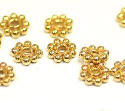 Gold Vermeil Daisy Spacer Beads