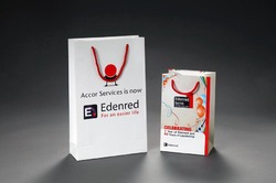Grey And Red Character, Logo, Image Printed Promotional Bags