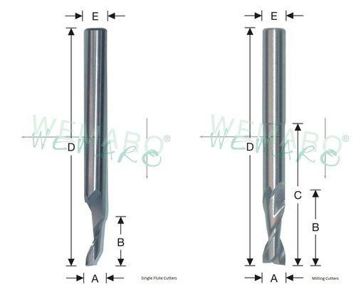milling bits. single flute cutters/ router bits / milling cutters hss-e g