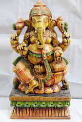 Lord Ganesha Wooden Statue 2 feet