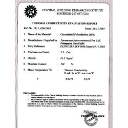 Thermal Conductivity Evaluation Report