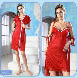 Ladies Nighty - Ladies Three Piece Fancy Nighty Manufacturer from Mumbai 5a930e506
