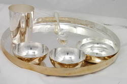 Dinner Set Gold u0026 Silver Plated : silver plate set - Pezcame.Com