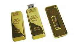 Gold Bar Shape Pen Drive