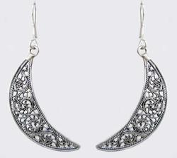 Sterling Silver Plain Filigree Earrings
