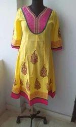 Yellow Anarkali Kurti