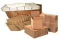 Kraft Paper Rectangular Disposable Internal Partition Boxes