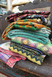 Vintage sari kantha ralli handmade kantha ralli