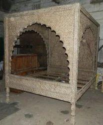 Carved Honeymoon Bed