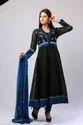 Black And Blue Anarkali Suit