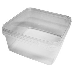 Milan Plastic 1200 Ml. Square Shaped Tamper Proof Containers, For Food