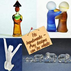 Glass Handmade Figurines And Artifacts - Clear Glass
