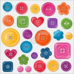 Customized Plastic Buttons