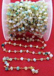 Natural Peruvian Opal Wire Chain