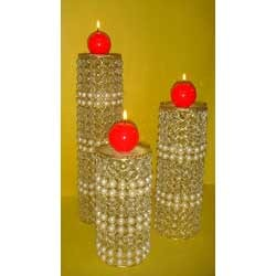 Beaded Candle Stand
