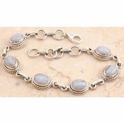 Blue Lace Agate Bracelet in 92.5 Sterling Sliver