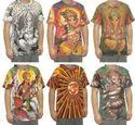Hindu Gods Deity Deities Psychedelic Hippie Dj Art T Shirt