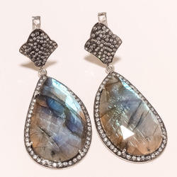 Labradrorite with Russian Lock Earrings