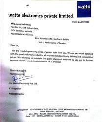 Watts Electronics Pvt Ltd - Cochin