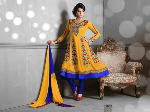 Stylish Bandhani Anarkali Suit