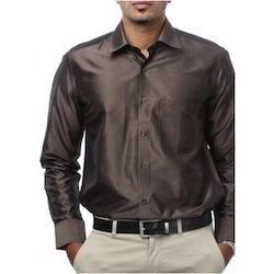 Dark Brown Silk Shirt