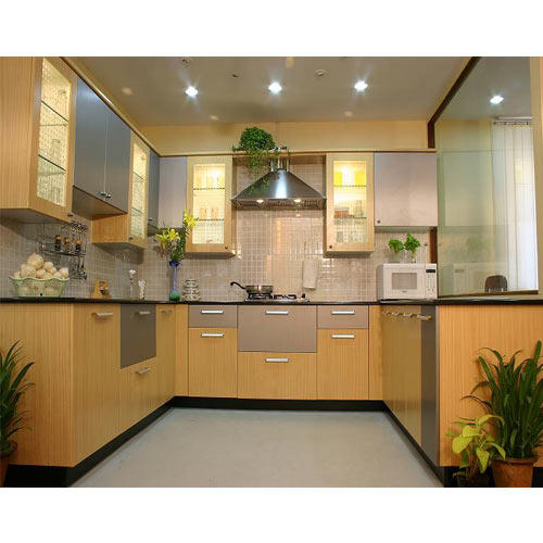 Kitchen cabinet laminated modern kitchen cabinet for Kitchen cabinets india