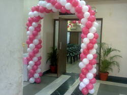 Red And White Balloons Decoration Service
