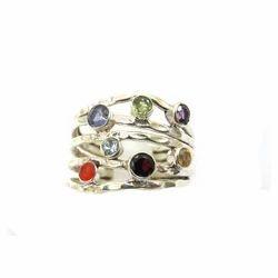 Silver Chakra Ring
