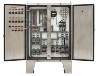 three phase hvac control panel quick control id 7527565833 rh indiamart com hvac control panel wiring hvac panel wiring diagram