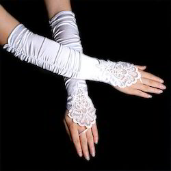 Embroidery Wedding Gloves