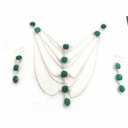 Designer Bezel Necklace Set