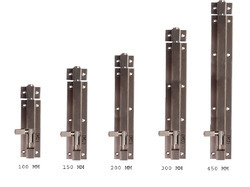 Aluminium Doors Tower Bolt 12 MM Square, For Door Fitting, Finish Type: Silver