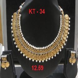 Heavy Pearl Necklace Set