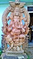7 Feet Lord Ganesha Wooden Statue