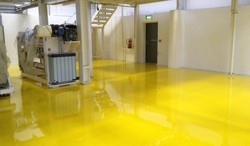Yellow PU Floor Coating Service, Drying Time: 3-5 Hrs