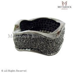 Pave Diamond Celebrity Style Ring Bands
