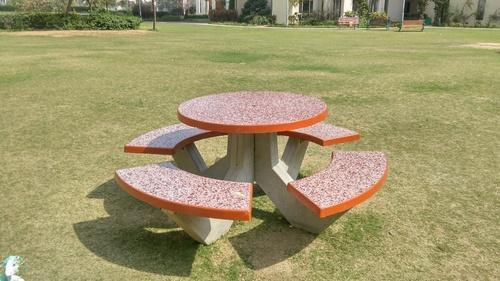 Concrete Garden Furniture Garden Bench Circular Table With