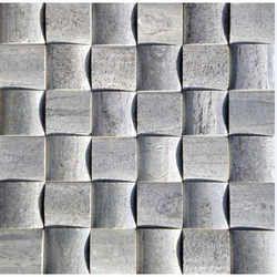 Silver Shine Slate 3D Mosaic Tiles