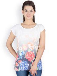 Y&I Casual Short Sleeve Printed Women's Top
