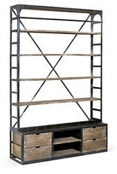 Rough Iron Industrial Bookcase