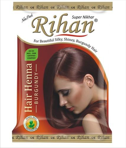 Hair Dying Rihan Burgundy Hair Henna, Packaging Size: 200 Gm