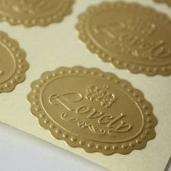 embossed sticker at best price in india