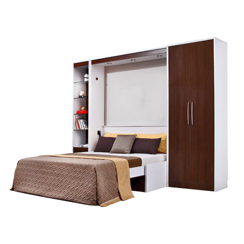 Furniture To Buy Online: For Home And Hotel Fly And MDF Wall Bed With Sofa