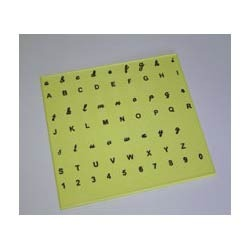 English Alphabet Trainer Plate