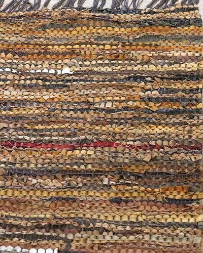 Leather Rugs Woven Rug