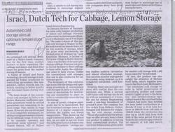 Israel Dutch Tech For Cold Cabbage, Lemon Storage