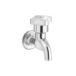 Silver Stainless Steel Parryware Jade Bib Cock, for Bathroom Fitting
