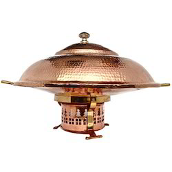 Copper Chafing Dish Set With Cover
