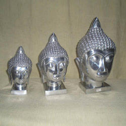 Buddha Head Set Sculptures