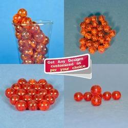 Handmade Orange Colored Resin Beads